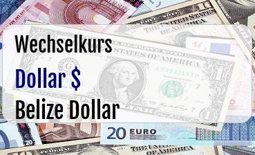 US Dollar in Belize Dollar