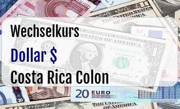 US Dollar in Costa Rica Colon