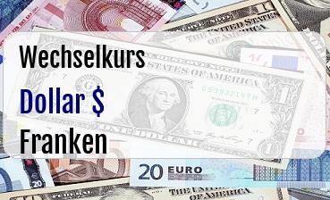 US Dollar in Schweizer Franken