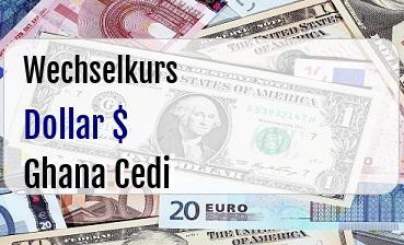 US Dollar in Ghana Cedi