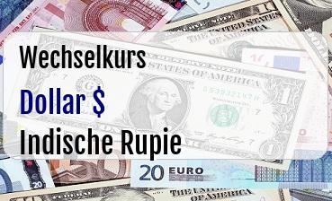 US Dollar in Indische Rupie