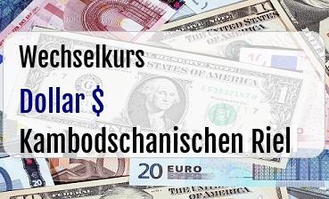 US Dollar in Kambodschanischen Riel