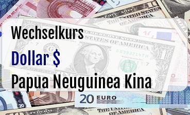 US Dollar in Papua Neuguinea Kina