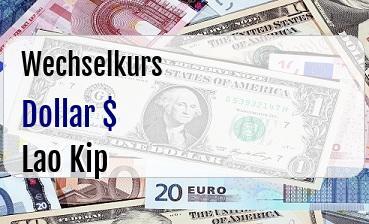 US Dollar in Lao Kip