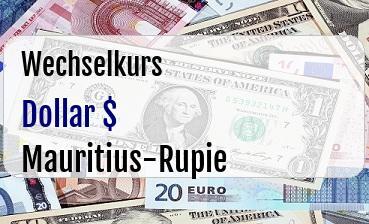 US Dollar in Mauritius-Rupie