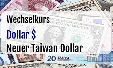 US Dollar in Neuer Taiwan Dollar