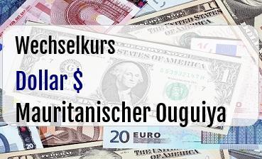 US Dollar in Mauritanischer Ouguiya