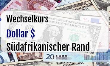 US Dollar in Südafrikanischer Rand