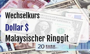 US Dollar in Malaysischer Ringgit