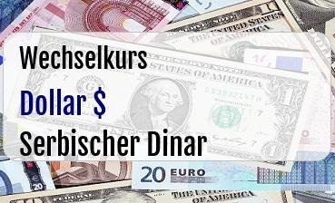 US Dollar in Serbischer Dinar
