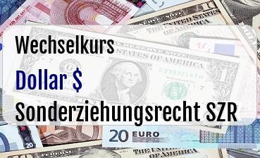 US Dollar in Sonderziehungsrecht SZR