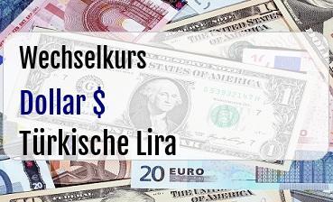 US Dollar in Türkische Lira