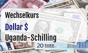 US Dollar in Uganda-Schilling