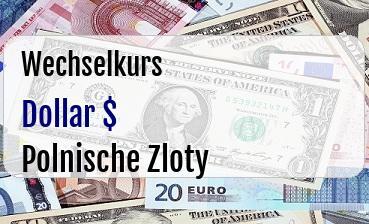 US Dollar in Polnische Zloty