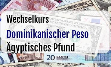 Dominikanischer Peso in Ägyptisches Pfund