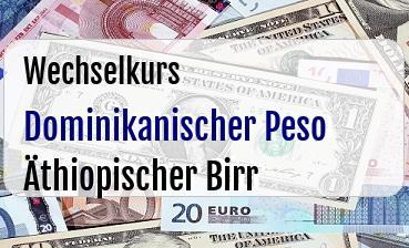 Dominikanischer Peso in Äthiopischer Birr