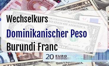 Dominikanischer Peso in Burundi Franc