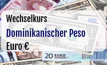 Dominikanischer Peso in Euro
