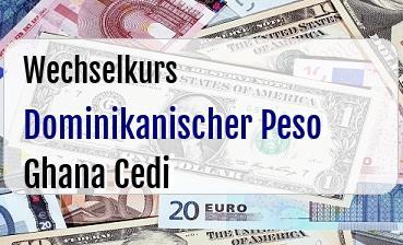 Dominikanischer Peso in Ghana Cedi