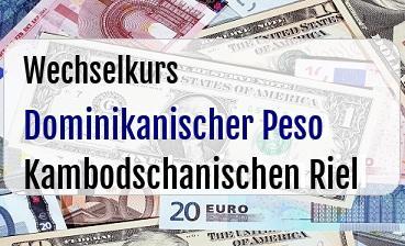 Dominikanischer Peso in Kambodschanischen Riel
