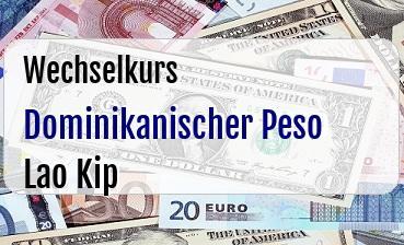 Dominikanischer Peso in Lao Kip