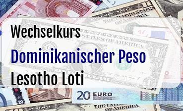 Dominikanischer Peso in Lesotho Loti