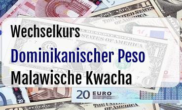 Dominikanischer Peso in Malawische Kwacha