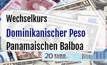 Dominikanischer Peso in Panamaischen Balboa