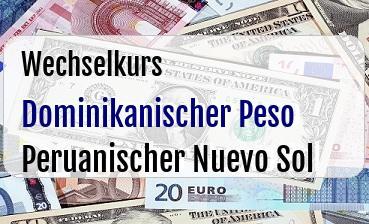 Dominikanischer Peso in Peruanischer Nuevo Sol