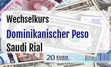 Dominikanischer Peso in Saudi Rial
