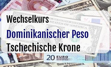 Dominikanischer Peso in Tschechische Krone