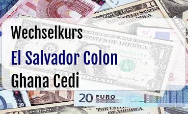 El Salvador Colon in Ghana Cedi