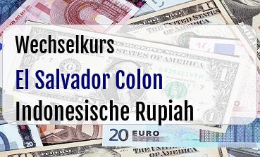 El Salvador Colon in Indonesische Rupiah