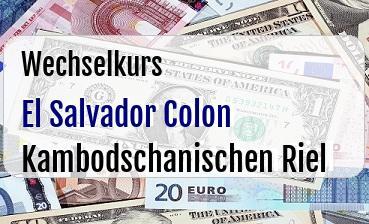 El Salvador Colon in Kambodschanischen Riel
