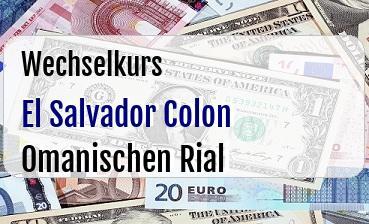 El Salvador Colon in Omanischen Rial
