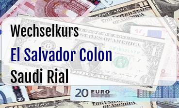 El Salvador Colon in Saudi Rial