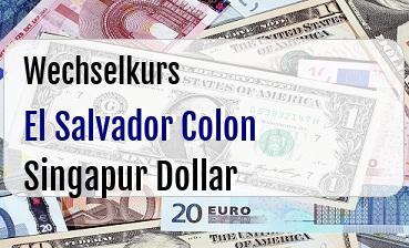 El Salvador Colon in Singapur Dollar