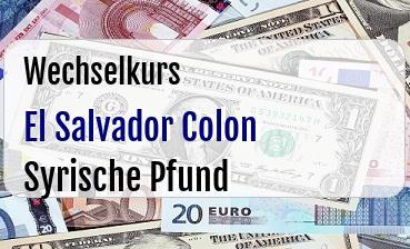 El Salvador Colon in Syrische Pfund