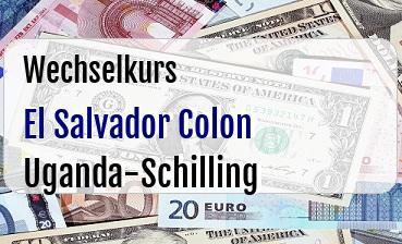El Salvador Colon in Uganda-Schilling