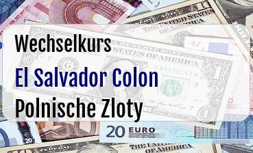 El Salvador Colon in Polnische Zloty
