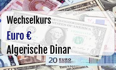 Euro in Algerische Dinar