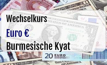 Euro in Burmesische Kyat