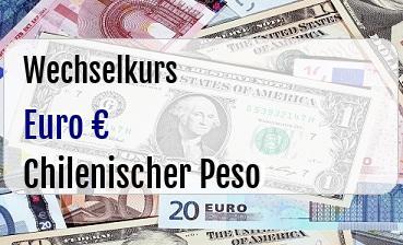 Euro in Chilenischer Peso