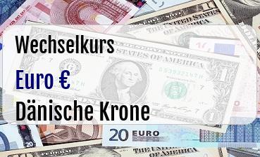 Euro in Dänische Krone