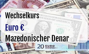 Euro in Mazedonischer Denar