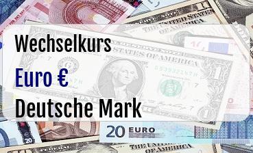 Euro in Deutsche Mark