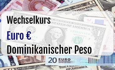 Euro in Dominikanischer Peso