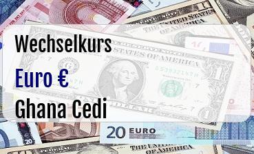 Euro in Ghana Cedi
