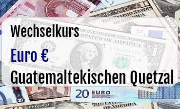 Euro in Guatemaltekischen Quetzal
