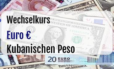 Euro in Kubanischen Peso